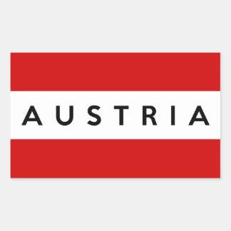 austria country flag symbol name text rectangle sticker