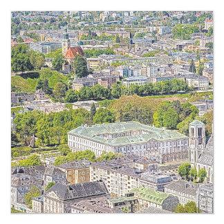 Austria - drawing Salzburg 1 Magnetic Card