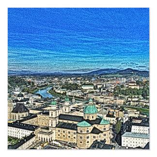 Austria - drawing Salzburg 2 Magnetic Card