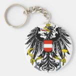 austria emblem basic round button keychain