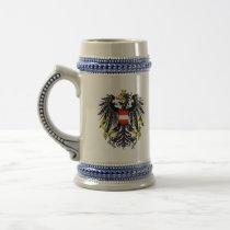 austria emblem beer stein