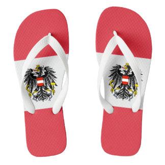 austria emblem flip flops