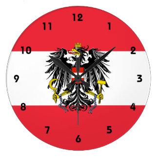 austria emblem large clock
