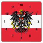 austria emblem wall clocks