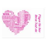Austria en palabras, pink plantillas de tarjeta de negocio