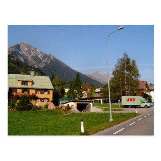 Austria, entrada ocupada del pueblo postal