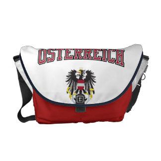 Austria + Escudo de armas Bolsa De Mensajeria