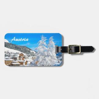 Austria - etiqueta del equipaje etiquetas bolsa