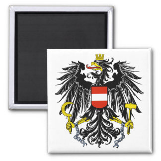 Austria - federal eagles 2 inch square magnet