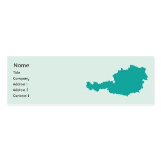 Austria - flaca tarjeta de negocio