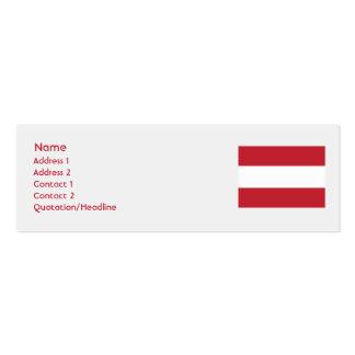 Austria - flaca tarjetas de visita mini
