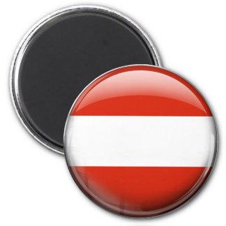 Austria Flag 2 Inch Round Magnet