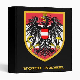 Austria Flag 3 Ring Binder