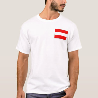 Austria Flag and Map T-Shirt