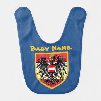 Austria Flag Baby Bib