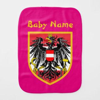 Austria Flag Baby Burp Cloth
