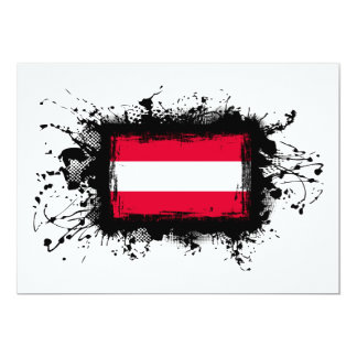 Austria Flag Card