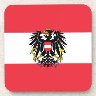 Austria Flag Beverage Coaster