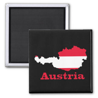 Austria Flag in Map Magnet