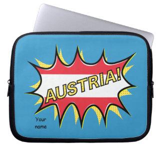 Austria Flag Kapow Comic Style Star Computer Sleeves
