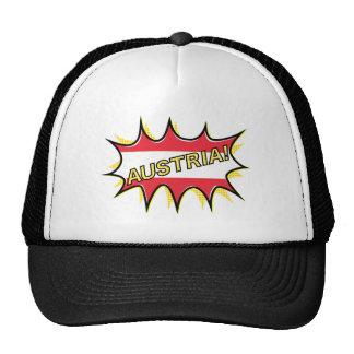 Austria Flag Kapow Comic Style Star Trucker Hat