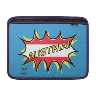 Austria Flag Kapow Comic Style Star MacBook Sleeve