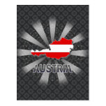 Austria Flag Map 2.0 Postcard