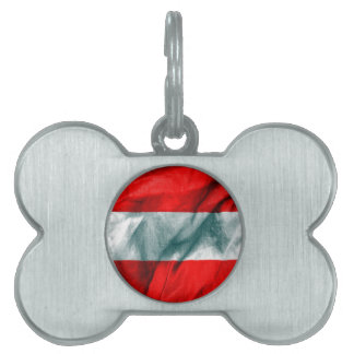 Austria Flag Pet Name Tag