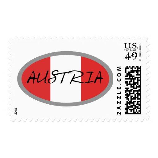 Austria Flag! Postage Stamp