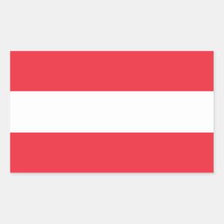 Austria Flag Rectangular Sticker