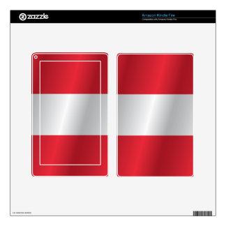 Austria flag skin for kindle fire