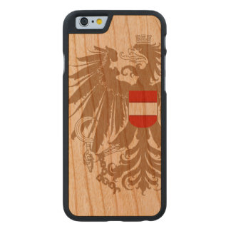 Austria Flag Vintage Carved Cherry iPhone 6 Slim Case
