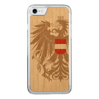 Austria Flag Vintage Carved iPhone 7 Case
