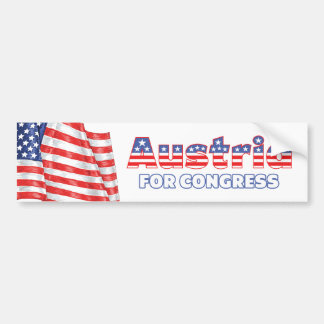Austria for Congress Patriotic American Flag Car Bumper Sticker