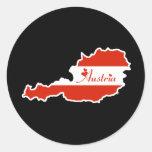 Austria fresca etiquetas redondas