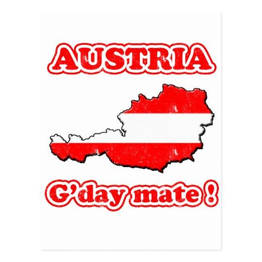 Austria - G'day mate ! Postcard