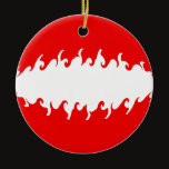 Austria Gnarly Flag Ceramic Ornament
