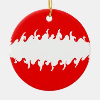 Austria Gnarly Flag Ceramic Ornament