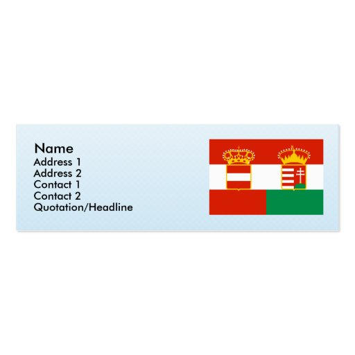 Austria Hungary 1869 1918, Hungary Business Card