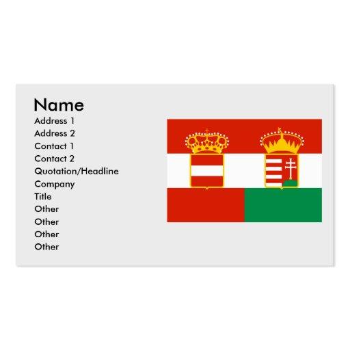 Austria Hungary 1869 1918, Hungary Business Card Template