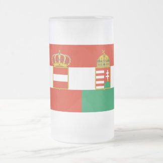 Austria-Hungary Flag (1869-1918) Frosted Glass Beer Mug