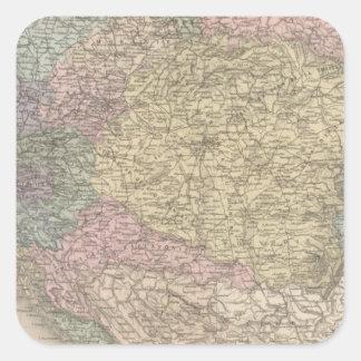 Austria Hungary Square Sticker