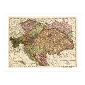 Austria-HungaryPanoramic MapAustria-Hungría Tarjetas Postales