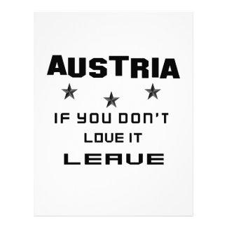 Austria If you don't love it, Leave Letterhead