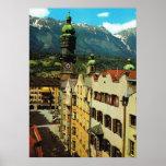 Austria, Innsbruck, el Tyrol, tejado de oro, ciuda Póster