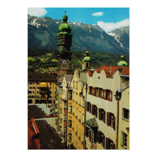 Austria, Innsbruck, Tyrol, Golden roof , old city Poster