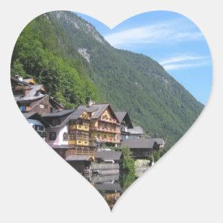 Austria Landscape Heart Sticker
