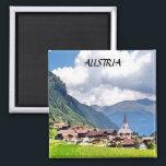 "AUSTRIA MAGNET<br><div class=""desc"">A SMALL ALPINE VILLAGE NESTLED IN THE MOUNTAINS..</div>"