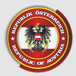 Austria Medallion Classic Round Sticker