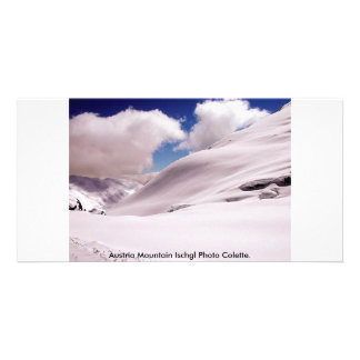 Austria Mountain Ischgl Photo Colette Personalized Photo Card